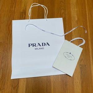 Bundle of 2 Prada Paper shopping bags